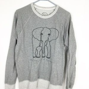 J Crew David Sheldrick Love Elephants Sweatshirt
